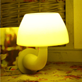 Smart Mushroom LED Night Lights Automatic Light-ControlSound-Control Bedside Lamp Wall Lamp For Children Room Bedroom Corridor
