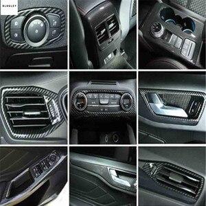 Image 1 - Cubierta de decoración Interior de fibra de carbono ABS para Ford FOCUS 4 MK4, accesorios para coche, 1 lote, 2019, Envío Gratis