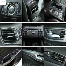 Housse de décoration intérieure de voiture, en fibre de carbone, ABS, pour Ford FOCUS 4 MK4 2019, 1lot, livraison gratuite