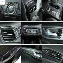 Trasporto libero 1lot ABS grano in fibra di carbonio decorazione di Interni della copertura per il 2019 Ford FOCUS 4 MK4 accessori auto