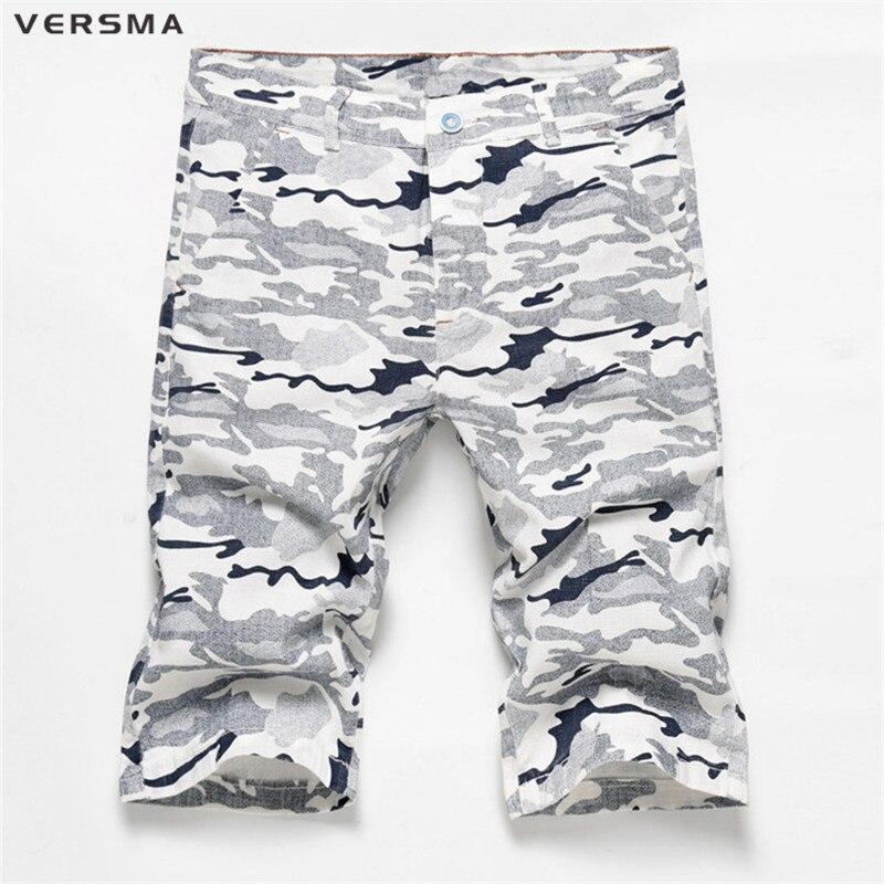 VERSMA Summer Mens Bermuda Hip Hop Blue Camo Shorts Camouflage Shorts Men  Casual Sweat Cargo Shorts Male Short Pants Boardshorts 695540f37b3