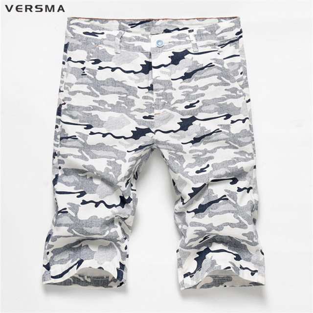 898be54ecbc9d Versma verano mens Bermudas hip hop CAMO azul Pantalones cortos camuflaje  Pantalones cortos hombres casual sweat