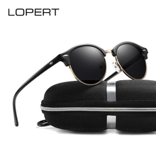 LOPERT Brand Designer Polarized Sunglasses Women Men Sun Glasses Retro Rivet Classic Unisex Male Eyewear De Sol UV400