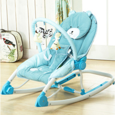 Baby Rocker Chair Mid Century Maribel Hand Actuated Rocking Portable Folding Chaise Lounge Multifunctional Cradle