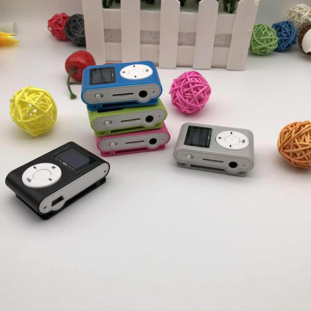小型ポータブル MP3 プレーヤーミニ液晶画面 MP3 プレーヤー音楽プレーヤーサポート 32 ギガバイト TF カードウォークマン lettore mp3 usb プレーヤー