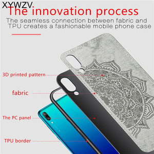 Image 3 - Huawei Y7 Pro 2019 Shockproof Soft TPU Silicone Cloth Texture Hard PC Phone Case For Huawei Y7 Pro 2019 Cover For Huawei Enjoy 9