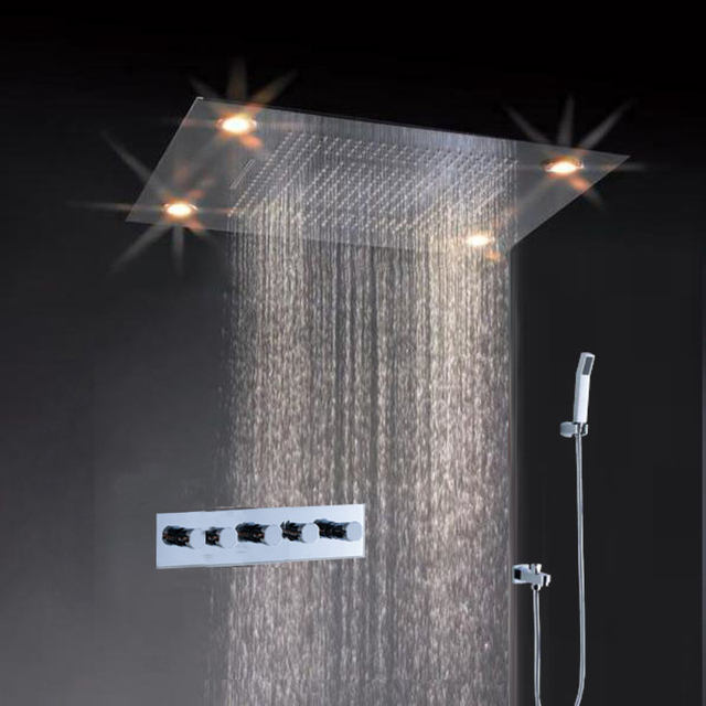 Best Seller Overhead Shower Embed Ceiling Rain And Waterfall Led