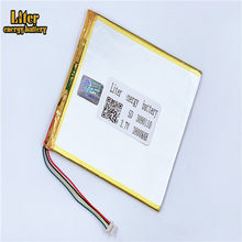 Enchufe 1,0-5 P Lipo Tablet PC 3,7 V 3090110 recargable 3800 mah batería de polímero de litio(China)