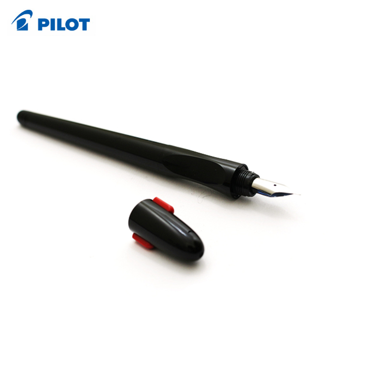 Students Affordable Good Fountain Pen Pilot Penmanship Fountain Pen Ergo Grip Extra Fine NibClear/Black Body FP 50R pilot dr grip pure white retractable ball point pen