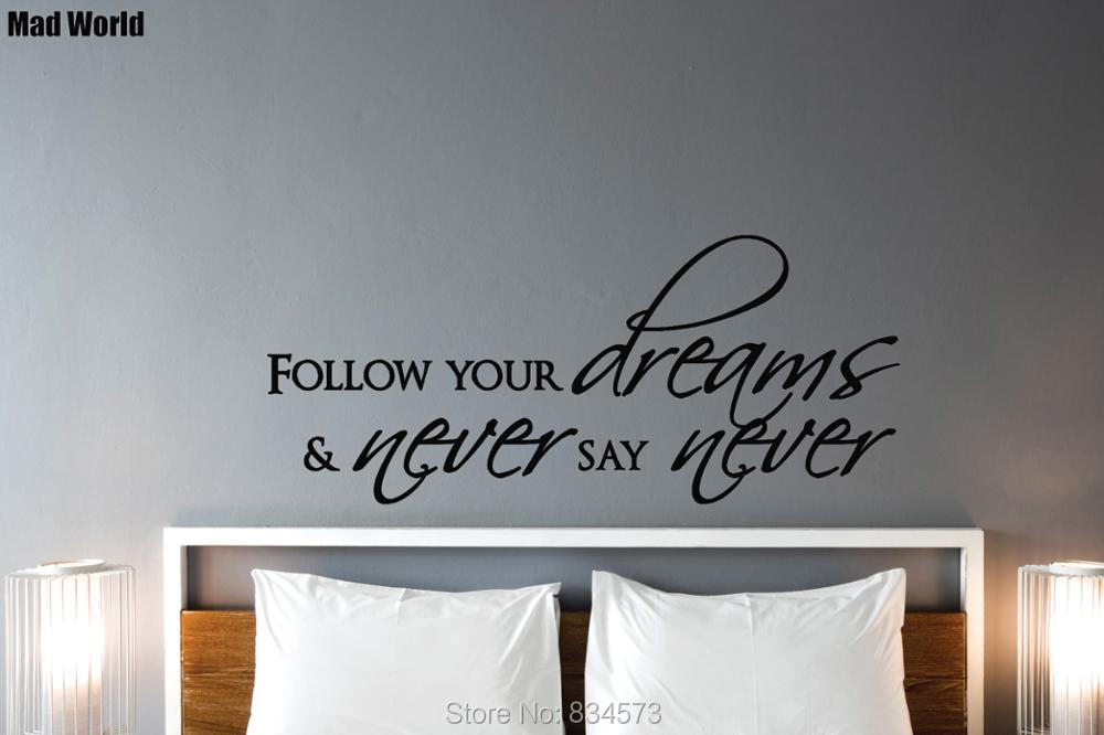 mad world dreams follow your dreams inspiration wall art stickers
