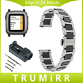 22 мм Керамические и Нержавеющей Стали Ремешок Для Часов Quick Release Ремешок для Pebble время Asus ZenWatch 1 2 Мужчины LG G Watch Вежливый Наручные группа
