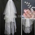 Venta caliente de la chispa 2 capas de perlas perlas blanco marfil Wedding el velo nupcial con peine de novia para Headwear accesorios