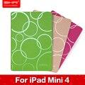 """Promoción Casual Flip Caso Del Soporte de LA PU para el ipad Mini 4 7.9 """"impresión de la cubierta protectora para el ipad mini 4 case cubierta de cuero"""