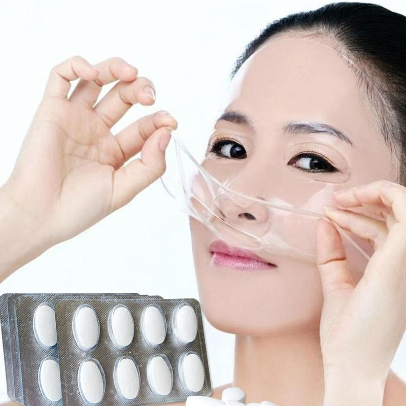 Whitening DIY Facial Fruit Vegetable Maker Automatic Mask Machine Use Effervescent Collagen Tablets Anti Aging Wrinkle Hydrating