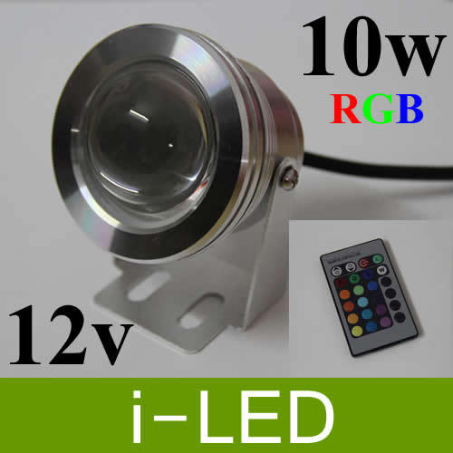 6pcs lot 10w rgb underwater light led floodlight ac dc 12v led landscape lights lamp led. Black Bedroom Furniture Sets. Home Design Ideas
