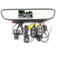 Wireless Rear View Camera CCD Video Auto 4.3 inch Car Rearview Mirror Monitor Parking Assistance Reversing Car-styling