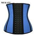 Cintura látex trainer respirável 9 ossos de aço espartilho cintura cincher body shaper cinto fino cinta modelagem cintura trimmer corset mukatu