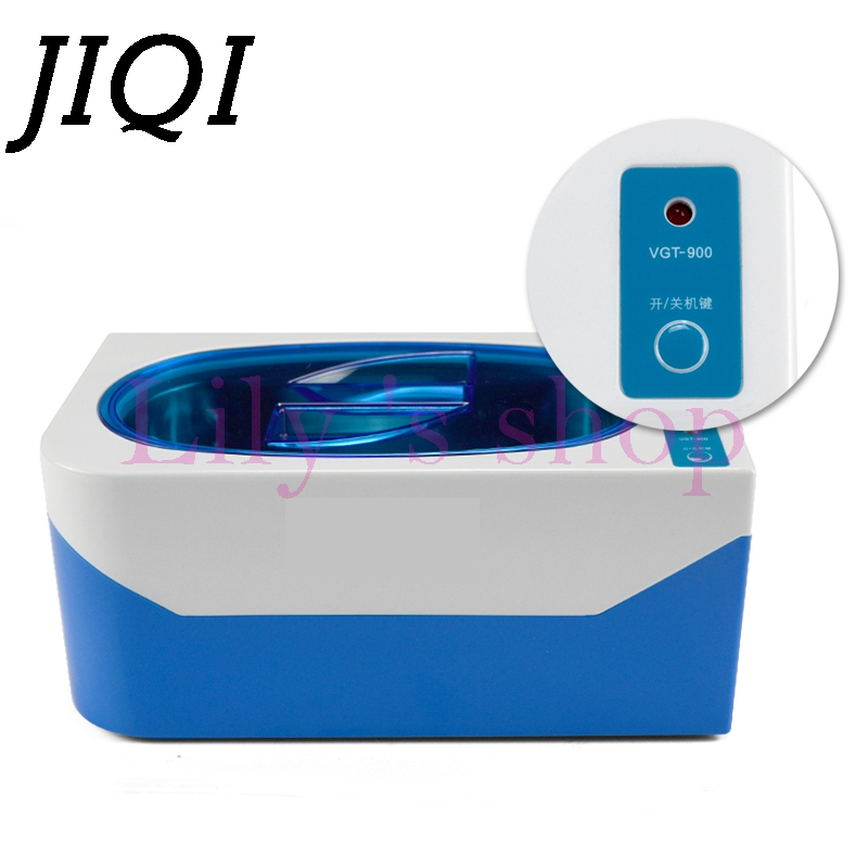 JIQI Ultrasonic cleaner ultrasonic bath of ultrasonic for cleaning Glasses Jewelry Circuit Board Denture cleaner 110V 220V 600ml 220v ultrasonic cleaning machine washes glasses household denture jewelry watches main board cleaner