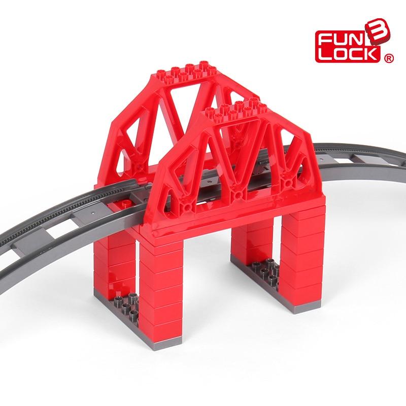 Funlock Duplo 39pcs ойыншықтар көпір көпір - Дизайнерлер мен құрылыс ойыншықтары - фото 3