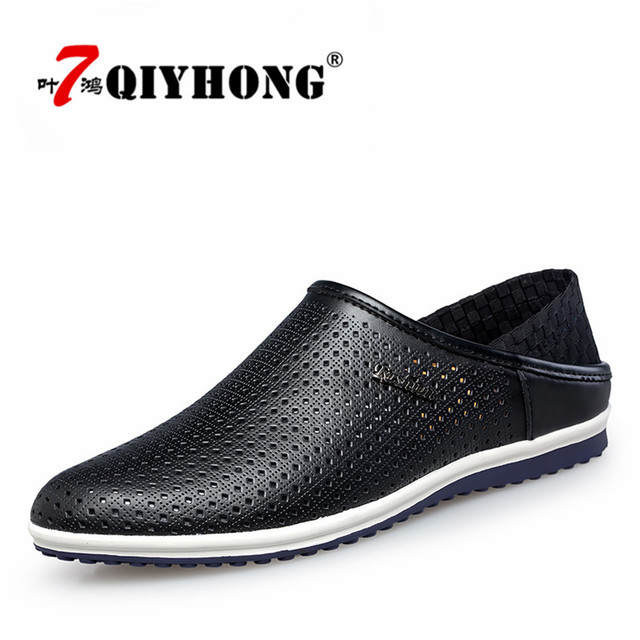 6459a2bf92081 Men Summer Slippers Shoes New QIYHONG Breathable Mesh Slip-on Beach Sandals  Male Outdoor Casual Flip Flops zapatillas hombre