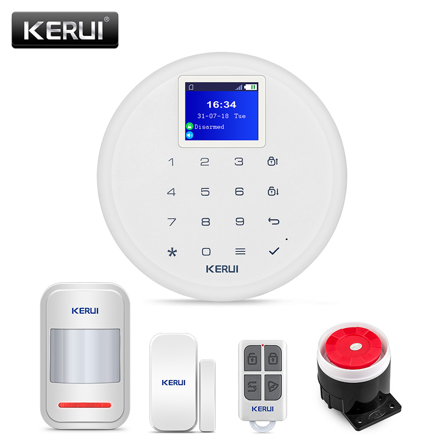 KERUI New Model G17 Wireless Home Security GSM Alarm System iPhone IOS Android APP Control Cost-effective Burglar Alarm Kits image