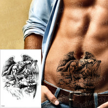 2019new temporary tattoos Angel defeats the devil kill designs armband tattoos women mens fake tattoo water color tatoo arm body