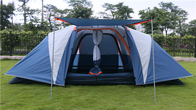 The New Marquee Tent Automatic 5-8 Person Multiplayer 3Seasons General Posted A Two-compartment Halls Automatic Tent
