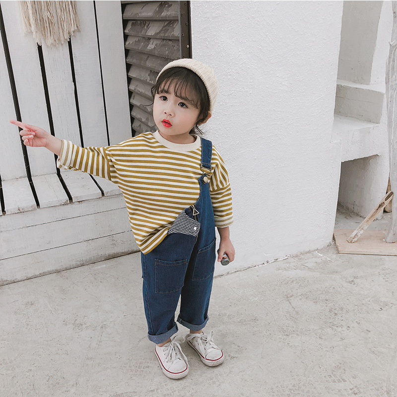 Spring Autumn Baby Girls Fashion Solid Color Trousers With