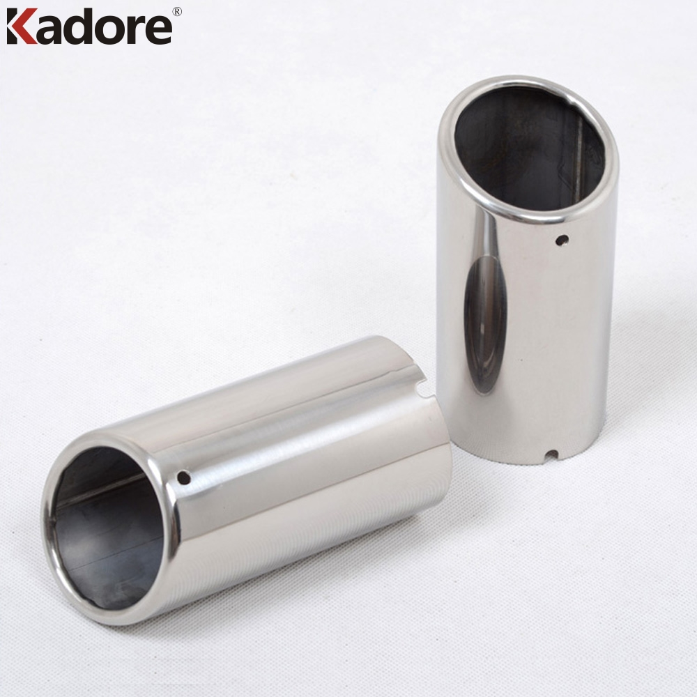 For Jetta 6 MK6 2.0TDI 2.5 2012 2013 2014 Stainless Steel Exhaust Muffler Tip Silencer Exhaust System Exterior Accessories