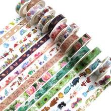 Милые кавайные растения цветы японская маскирующая васи лента декоративная клейкая лента Decora Diy Скрапбукинг наклейка этикетка канцелярские товары