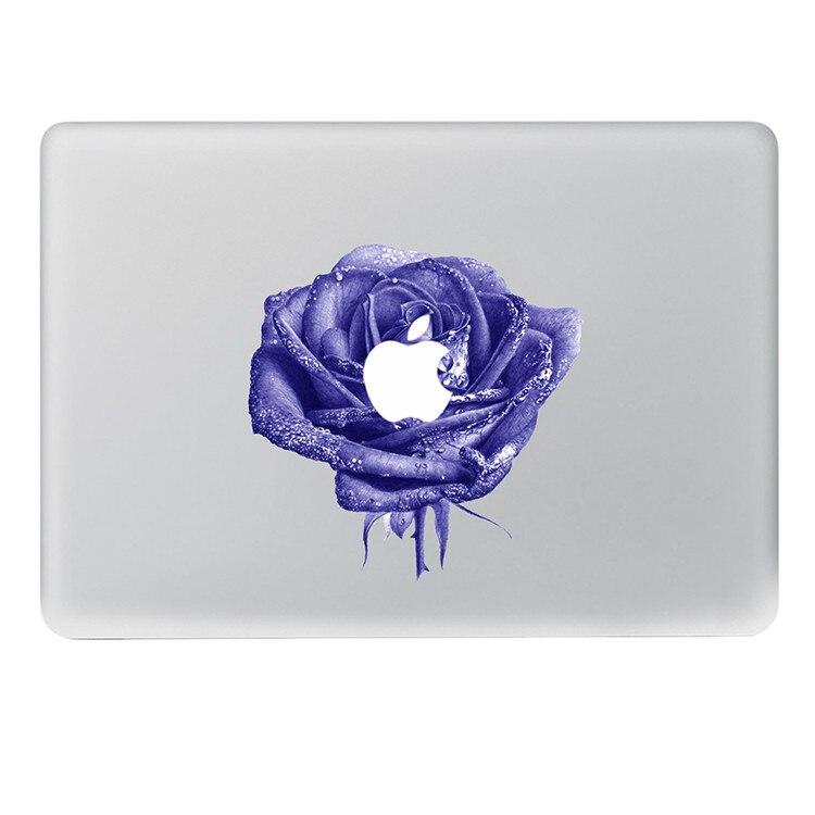 Beautiful purple rose Vinyl Decal Notebook sticker on Laptop Sticker For DIY Macbook Pro Air 11 13 15 inch Laptop Skin