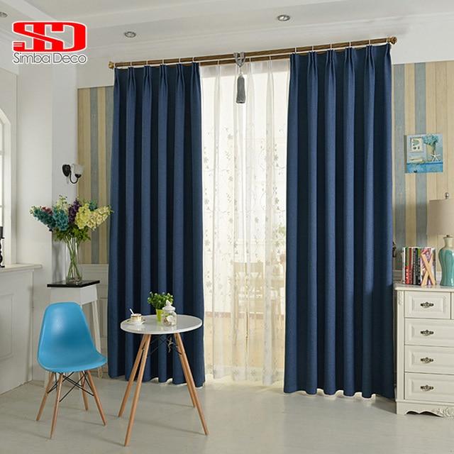 Moderne Faux Plain Bettwäsche Verdunkelungsvorhang für Wohnzimmer ...