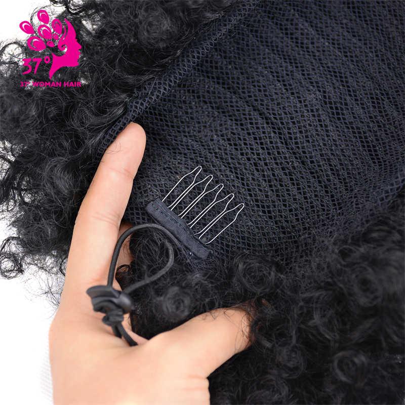 Pelucas de pelo rizado Afro sintético con cordón y clips en extensiones de cabello de 6 y 8 pulgadas sueño del hielo