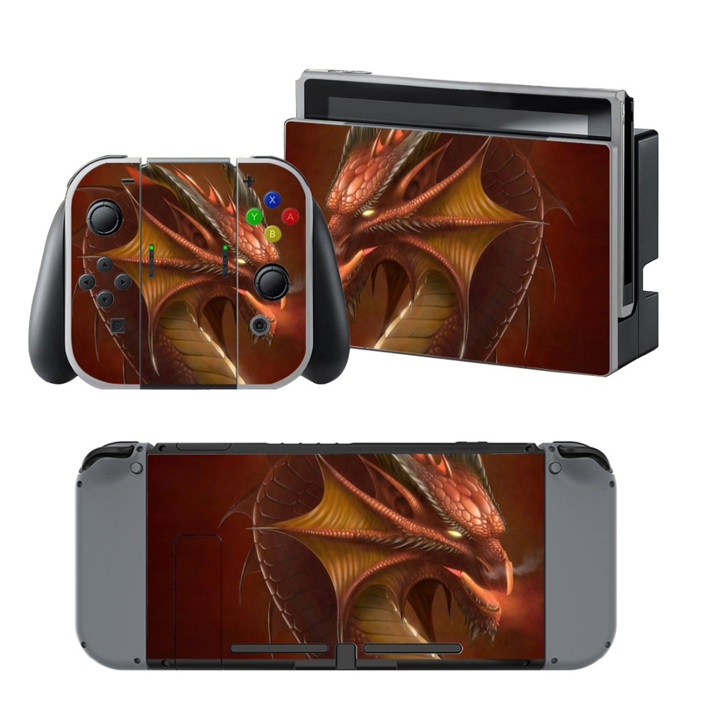 Newly Arrival Vinyl Skin Sticker for Nintendo Switch Console Protector Cover Decal Vinyl Skin for Skins Stickers 0155