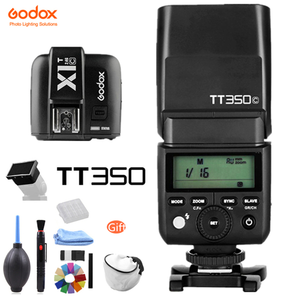 Godox TT350 GN36 2.4G TTL HSS Mini Flash Speedlite + X1T X System Transmitter Trigger for Canon Nikon Sony Fuji Olympus Camera-in Flashes from Consumer Electronics    1