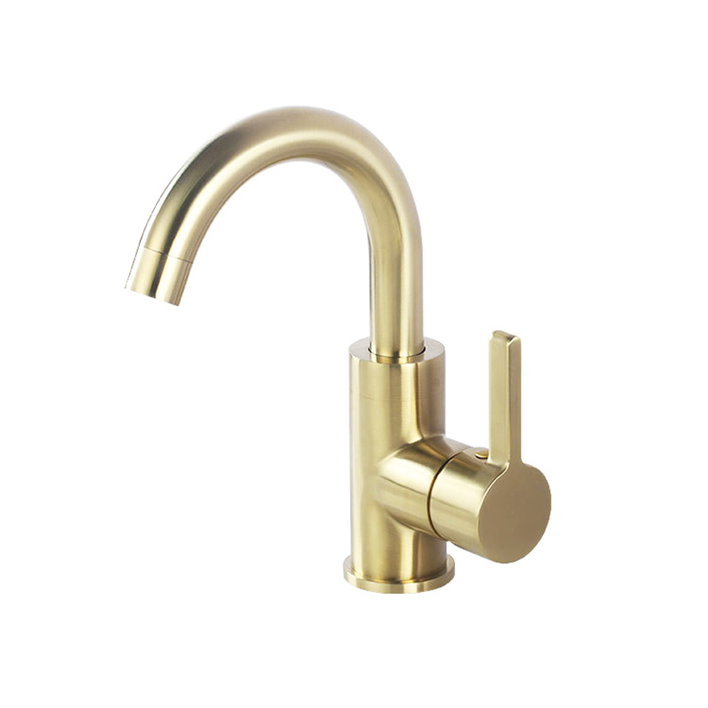 """Gold Brass Bathroom Waterfall Basin Sink Faucet Single Handle Mixer W// 10/"""" Cover"""
