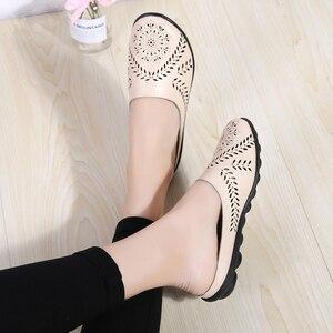 Image 5 - STQ 2020 Summer Shoes Slippers Women Lazy Ballet Flat Sandals Shoes Slip On Comfortable Cut outs Slides Sandals Flip flops 9915
