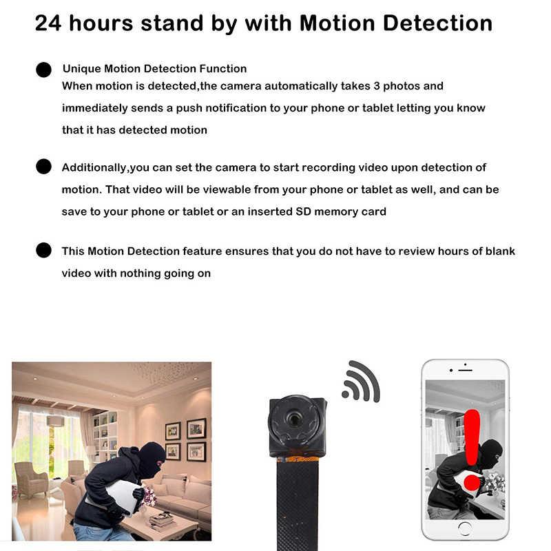 HD 1080 P DIY Portabel WIFI IP Kamera Mini P2P Wireless Mikro Web Camcorder Perekam Video Dukungan Remote Lihat Tersembunyi kartu TF