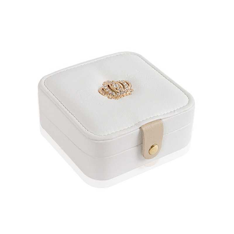 Luxe nouveau bijoux organisation boîte montre Case Portable bijoux boîtes anneaux de rangement Bracelet boîte oreille Stud cadeau de mariage pour fille