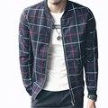 New Design Fashion Men Plaid Jackets Slim Fit Casual Coats Men Bomber Jacket Jaqueta Masculina Veste Homme Chaqueta Hombre 5XL