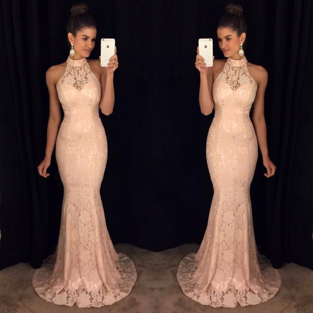 Charming Mermaid Lace   Prom     Dresses   2019 vestidos de fiesta de noche Floor Length Special Occasion   Dress   Formal Evening Gowns