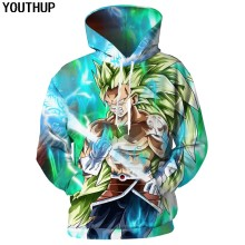 YOUTHUP 2020 DBZ Film Hoodies 3D Männer Dragon Ball Super Hoodies Goku Master Roshi Sweatshirt Anime Coolen Männlichen Hip Hop streetwear(China)