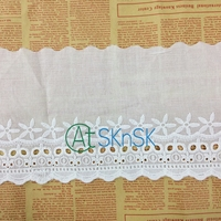 15.5CM Plain White DIY Hollow Lace Trim Sew Handmade Stretch Lace Ribbons Water Soluble Clothing Blouse Skirt Decor Woven Lace