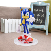 7 Sonic 20th Anniversary Super Figure Toys Doll Nendoroid Figures Shadow Anime Figurines Werehog