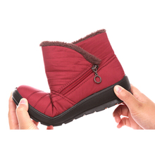 2016 female waterproof winter boots light and warm for the elderly not-slip rubber rain shoes snow women fashion boot