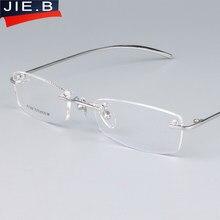 Nouveau pure titanium vis pliage lunettes cadres hommes femmes mode sans  monture lunettes prescription optique cadres oculos de . 8ebb7070932c
