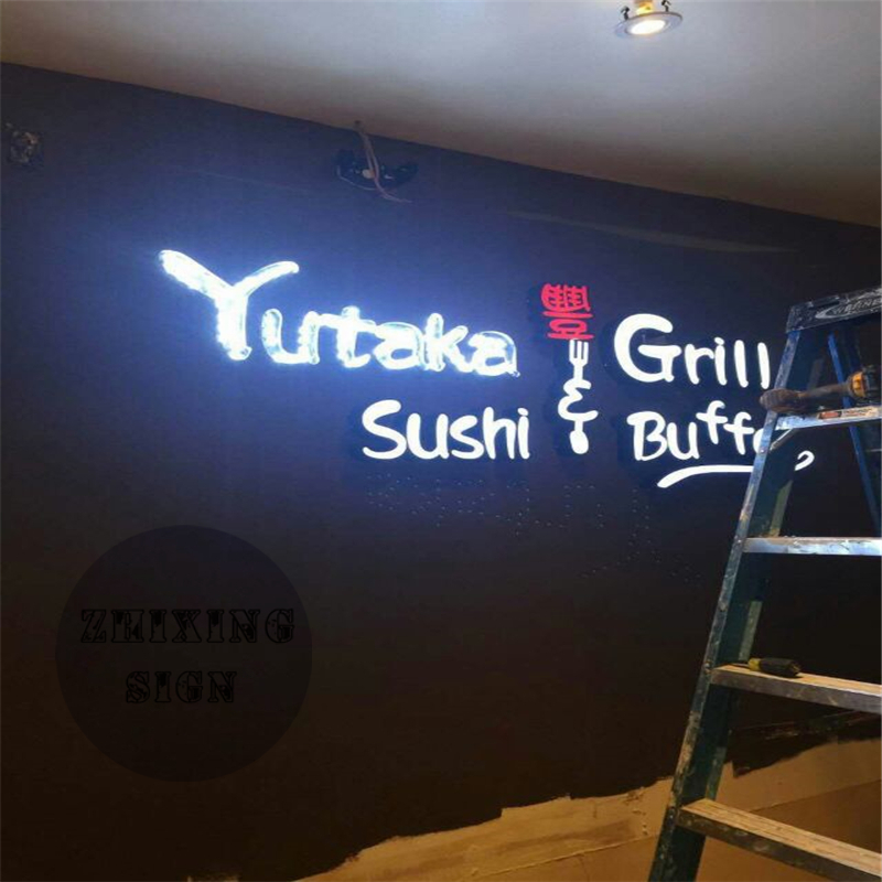 Factoy Outlet Outdoor Acrylic Front Light LED Advertising Signage