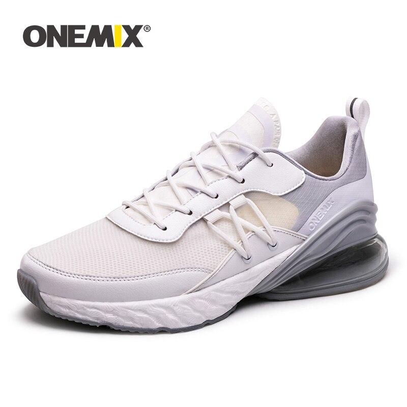 Chaussures de course en maille respirante femme Onemix baskets de Sport pour femmes en plein air Jogging chaussures de marche athlétiques chaussures de course noires