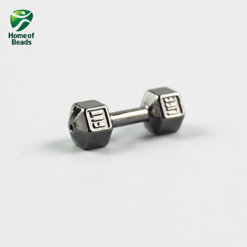 2017 New Fashion Wholesale Silver Gold Rose gold dumbbell Alloy
