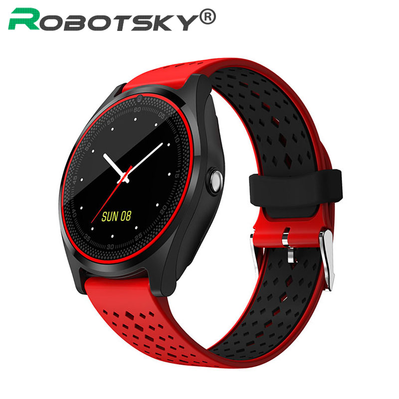 Bluetooth Smart Watch V9 With Camera SIM Card Smartwatch Pedometer Health Sport Clock Hours Men Women Smartwatch For Android